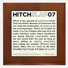 Christopher Hitchens Hitchslap 07 back Framed Tile
