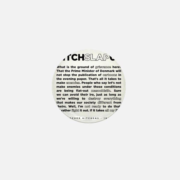 Christopher Hitchens Hitchslap 07 back Mini Button