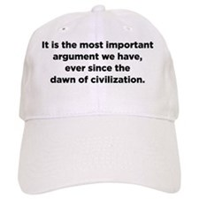 Christopher Hitchens Hitchslap 09 front white Baseball Cap