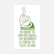 Talk to God Rectangle Decal