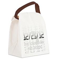 transparent-on-black Canvas Lunch Bag