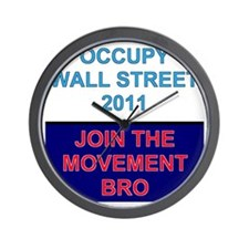 Join-the-movement-bro Wall Clock