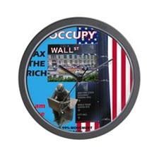 OCCUPY-Wall-Street-Poster Wall Clock