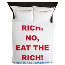 tax-eat-the-rich Queen Duvet