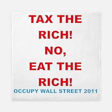 tax-eat-the-rich Queen Duvet