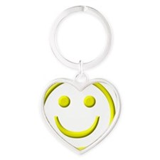 SmileyFace Heart Keychain