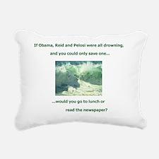 ObamaReidPelosiDrowning Rectangular Canvas Pillow