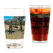 ox wagon artifact Drinking Glass