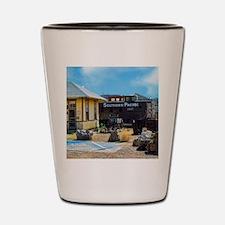 southern pacific depot Shot Glass
