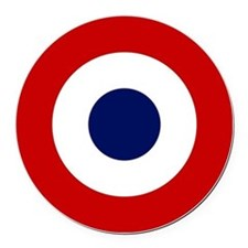 French-roundel Round Car Magnet