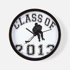 Class Of 2013 Hockey - Black 2 D Wall Clock