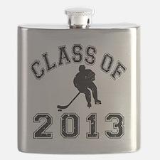 Class Of 2013 Hockey - Black 2 D Flask