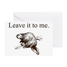 Leave it to me... Beaver (front only Greeting Card