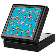 sharp-flamingos- Keepsake Box