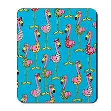 sharp-flamingos- Mousepad