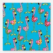 """sharp-flamingos- Square Car Magnet 3"""" x 3"""""""
