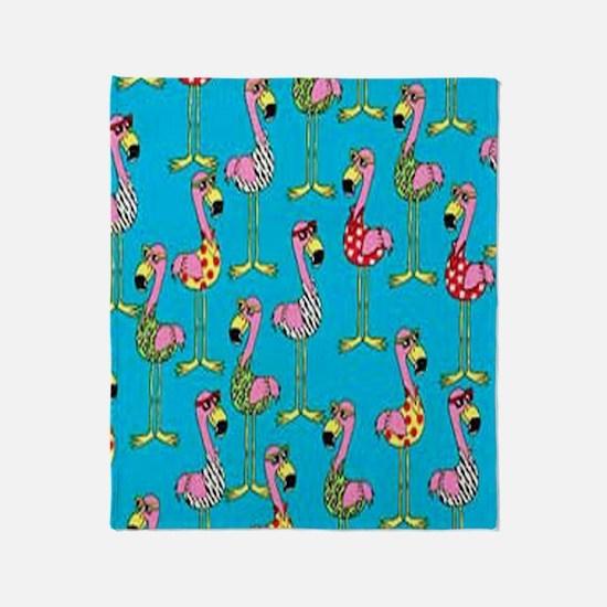 sharp-flamingos- Throw Blanket