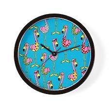 sharp-flamingos- Wall Clock