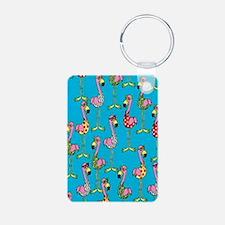 sharp-flamingos- Keychains