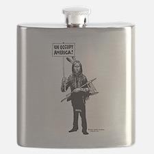 Unoccupy America Flask