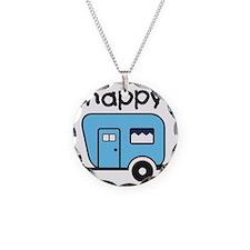 happy camper blue Necklace
