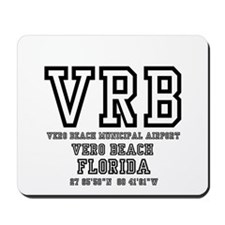 AIRPORT CODES - VRB - VERO BEACH, FLORID Mousepad