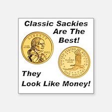 "000 classic sackies Square Sticker 3"" x 3"""