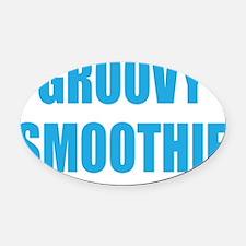 groovysmoothie3 Oval Car Magnet