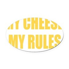 mycheese2 Oval Car Magnet