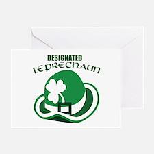 Designated Leprechaun Greeting Cards (Pk of 10