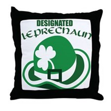Designated Leprechaun Throw Pillow