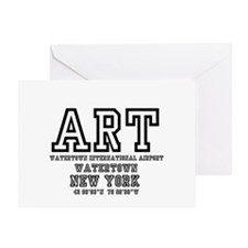 AIRPORT CODES - ART - WATERTOWN, NEW Greeting Card