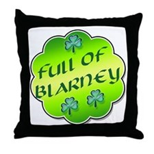 Full of Blarney Throw Pillow