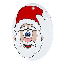 Santa Claus Cartoon Oval Ornament