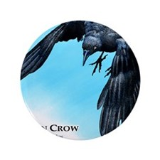 "American Crow 3.5"" Button"