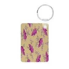 Leaves on Brown Keychains