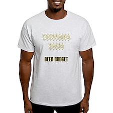 Champagne Taste Beer Budget T-Shirt