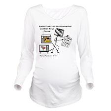 194MediaTrap_sq3 Long Sleeve Maternity T-Shirt