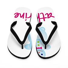Katharine-the-snow-woman Flip Flops