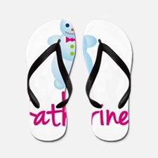 Katharine-the-snow-woman Flip Flops