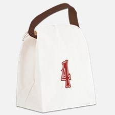 redsoxwhite4 Canvas Lunch Bag
