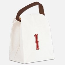 redsoxwhite1 Canvas Lunch Bag