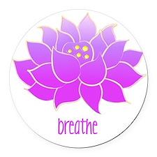 breathe lotus Round Car Magnet