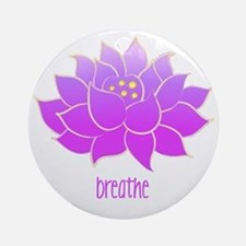 breathe lotus Round Ornament