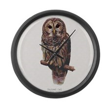 BarredOwl Large Wall Clock
