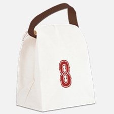 redsoxwhite8 Canvas Lunch Bag