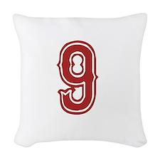 redsoxwhite9 Woven Throw Pillow