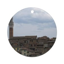 Roof Tops of Sienna Round Ornament