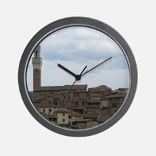 Roof Tops of Sienna Wall Clock