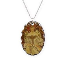 Dreams by Alphonse Mucha Necklace